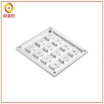 楼宇键盘CNC加工定制  铝合金楼宇按键加工