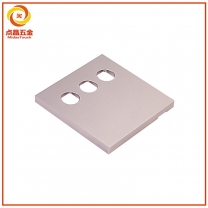 CNC开关面板定制  铝合金开关面板加工